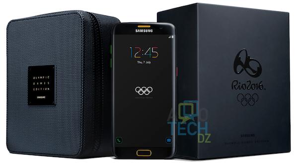 nouvelle version de galaxy s7 edge habill aux couleurs des jeux olympiques allotech dz. Black Bedroom Furniture Sets. Home Design Ideas