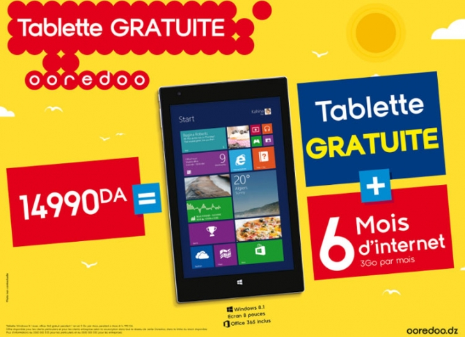 Ooredoo tablette windows 8