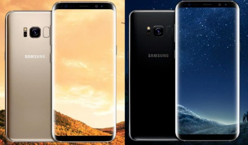 Galaxy S8 Officiel Avant Arriere Or Noir