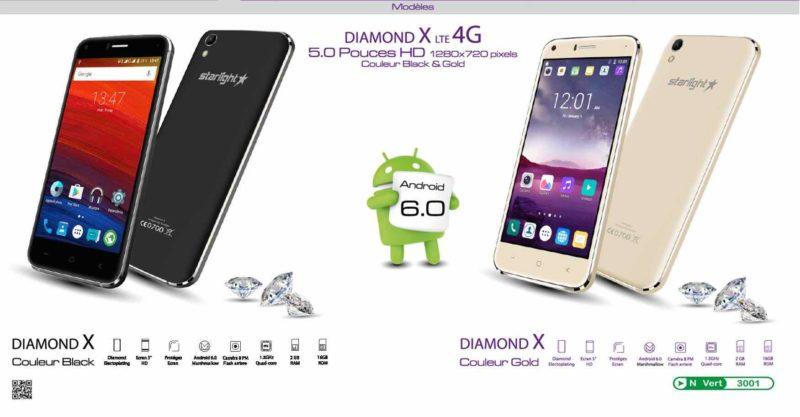 starlight diamond x le nouveau smartphone entr e de gamme avec 4g lte allotech dz. Black Bedroom Furniture Sets. Home Design Ideas