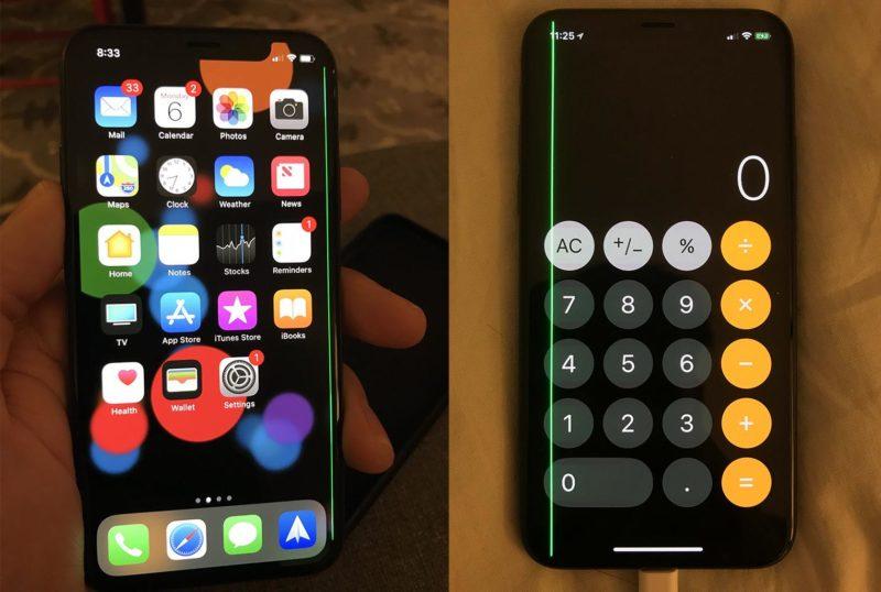iphone x ligne vert