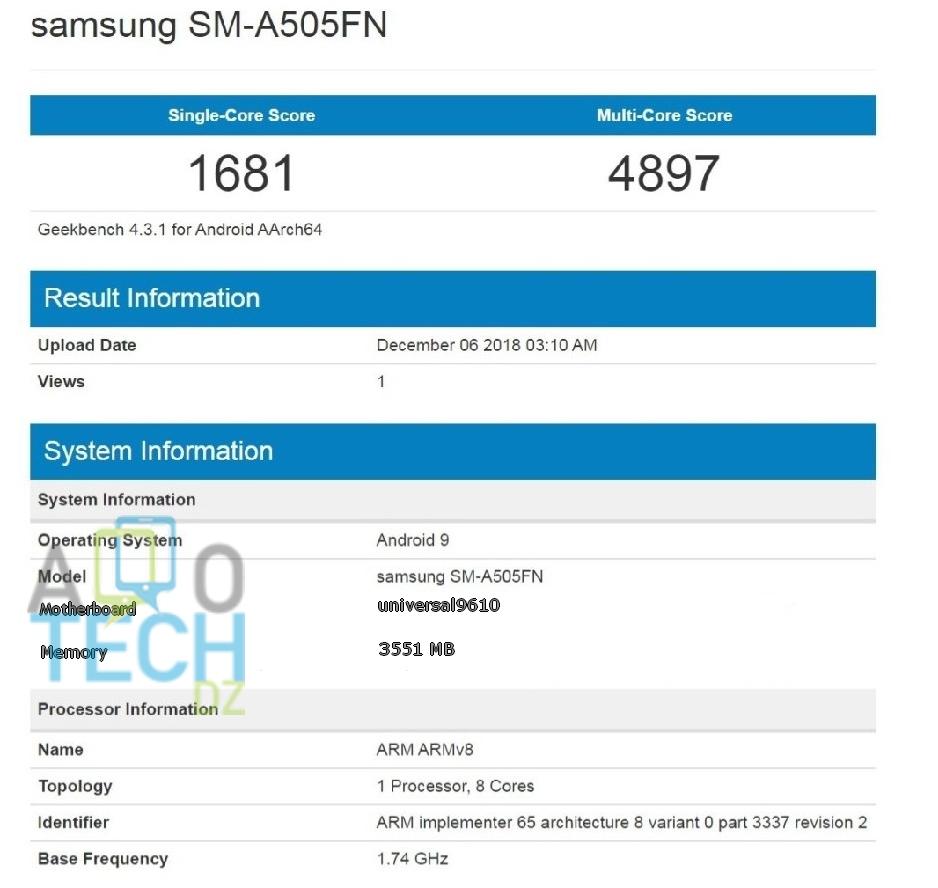Samsung-SM-A505FN-BECHMARK