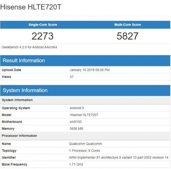 hisense u30 benchmark