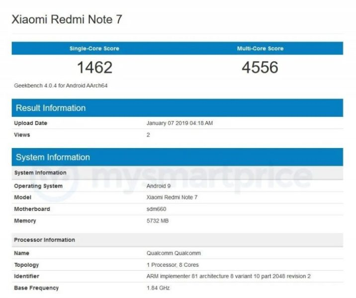 redmi note 7 bench