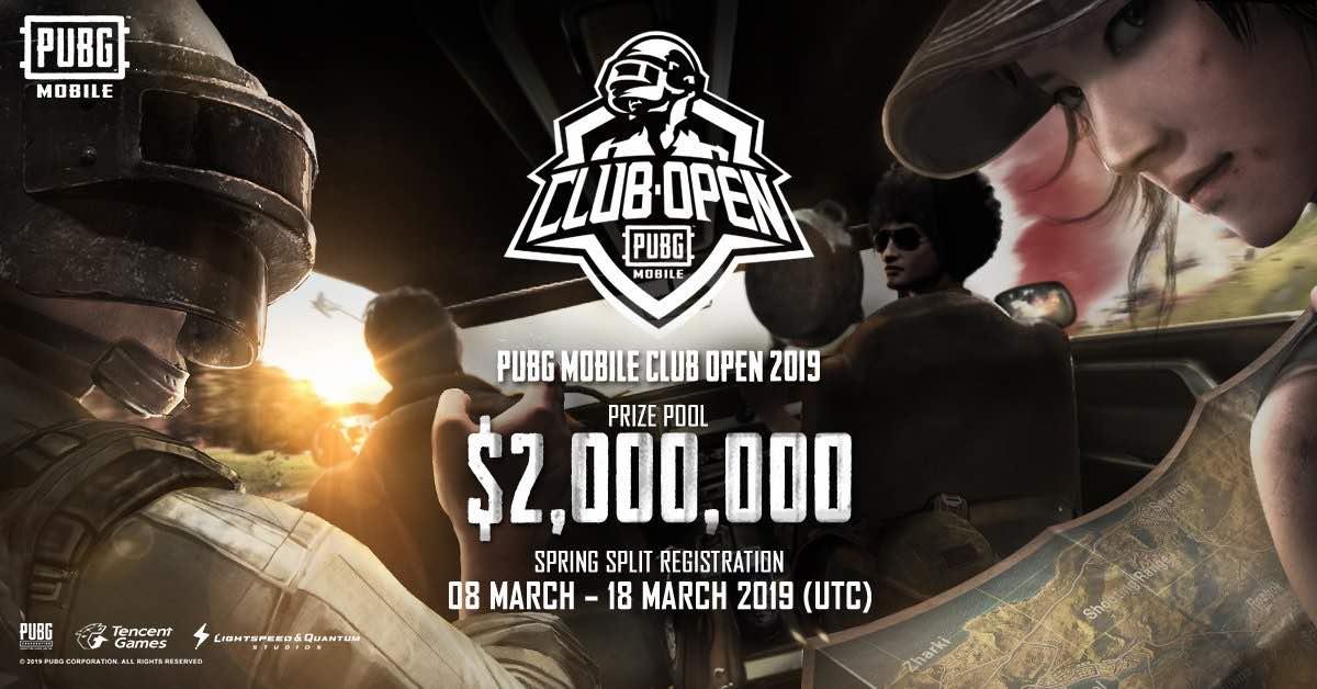pubg mobile club open
