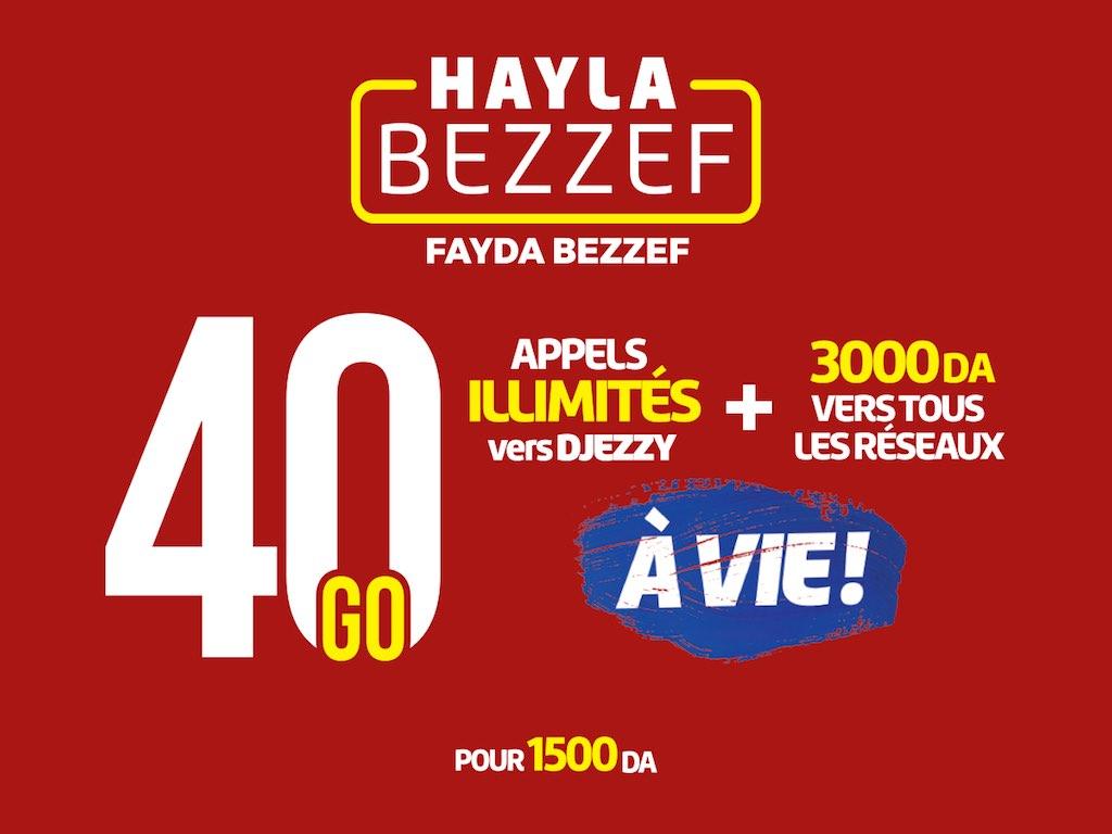 Djezzy renouvelle Hayla Bezzef avec encore plus volumes allant jusqu'à 60 Go