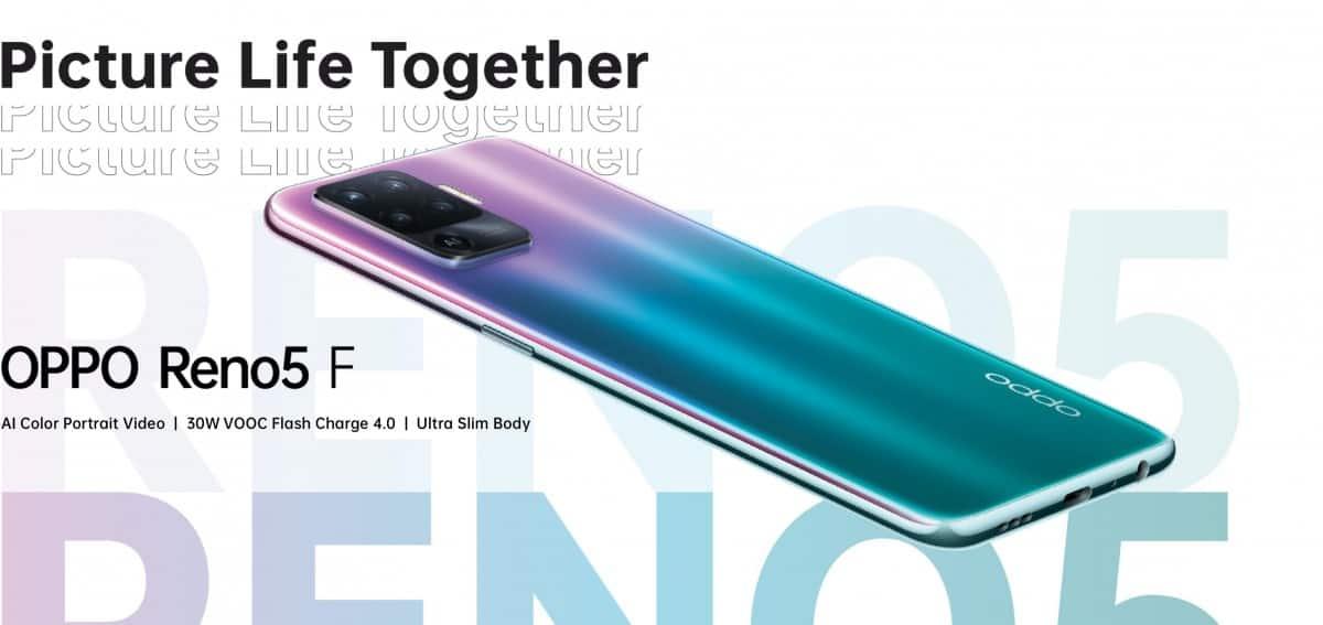 Oppo tease Reno5 F avec un tout nouveau design